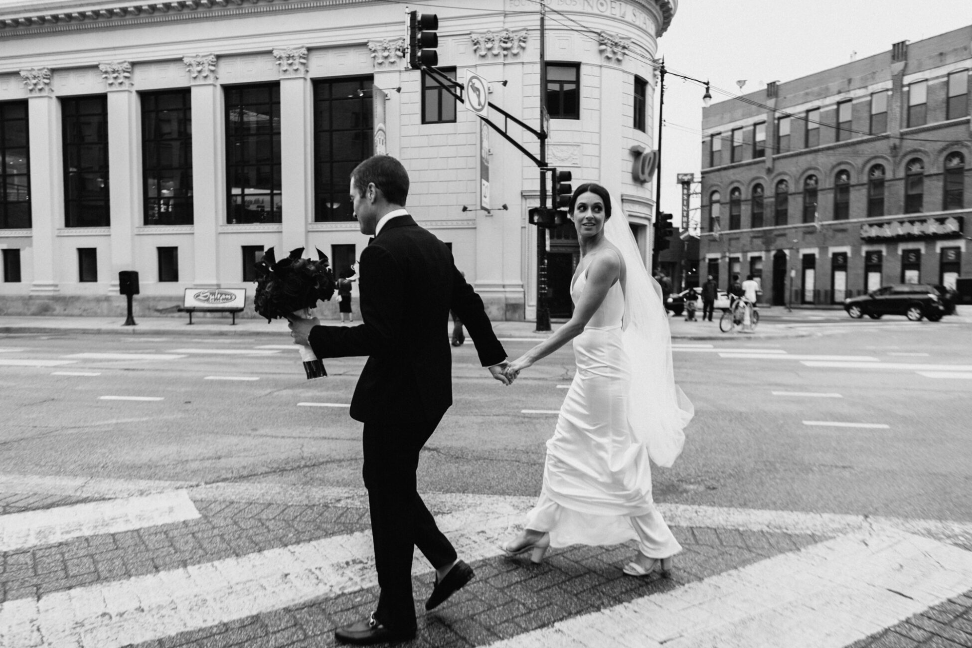 Downtown Chicago Elopement Wedding Photography